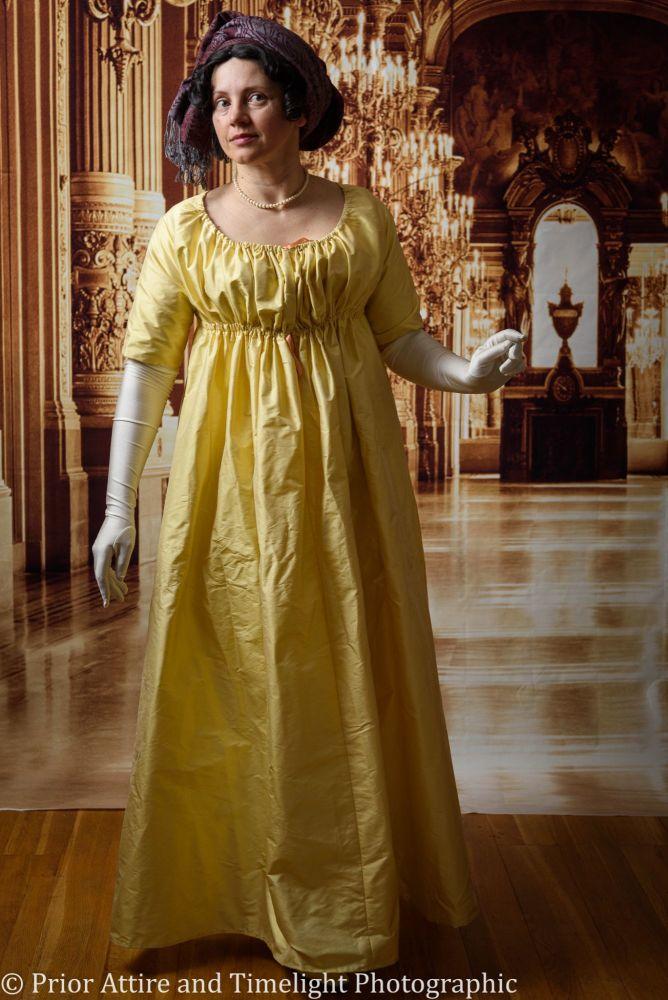 Regency evening dress cotton size 14-18