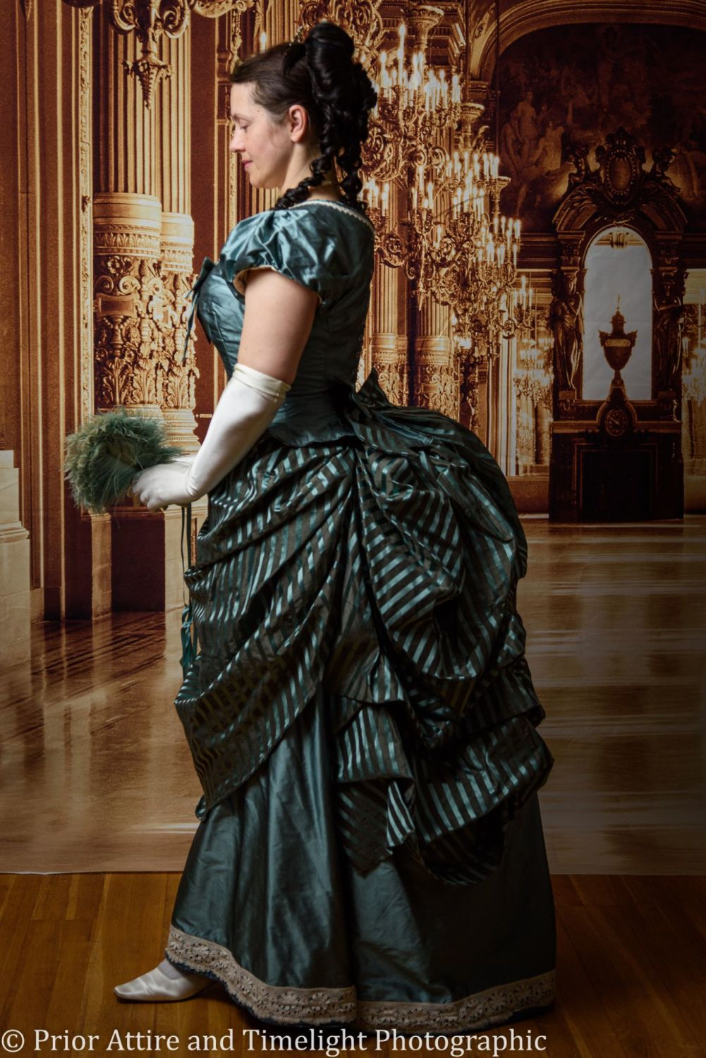 Victorian bustle ball gown size 12-14
