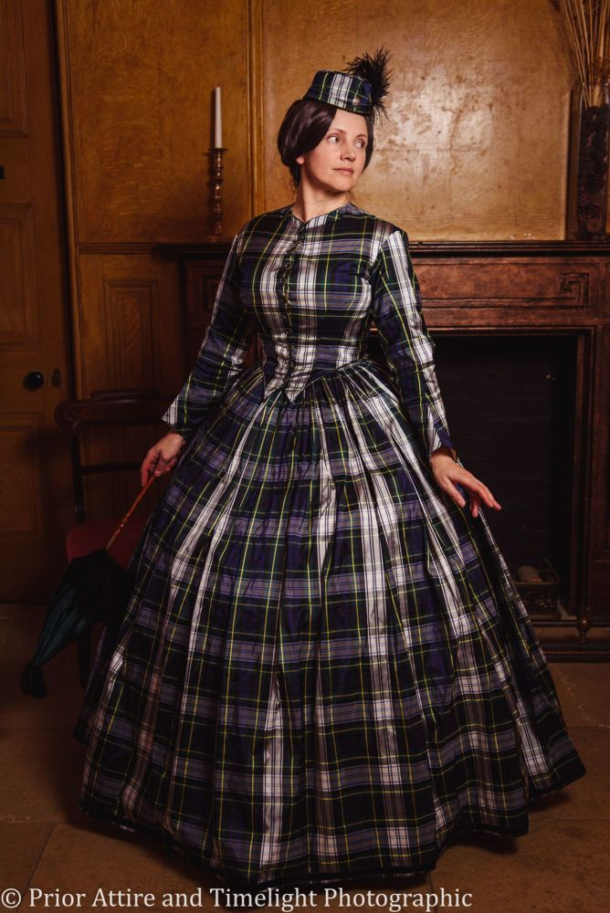 Victorian crinoline day dress size 12-14