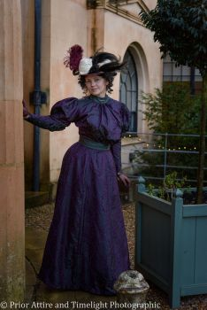 1890s day gown