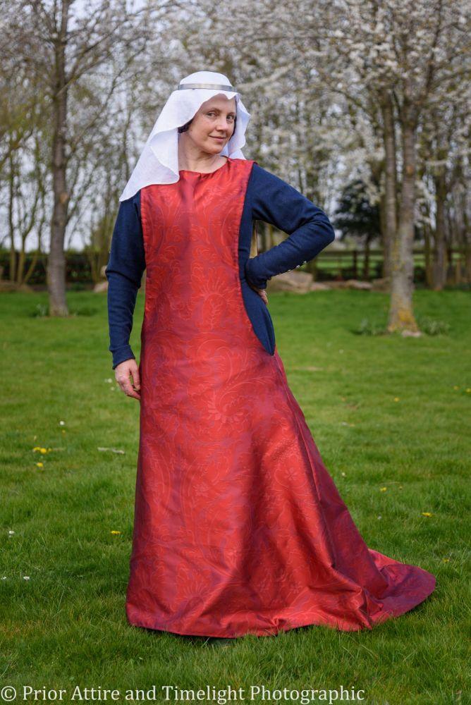 Medieval surcoat in silk