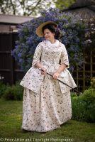 Caraco jacket and petticoat set, size 14