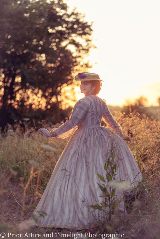 Victorian crinoline summer dress size 12-14