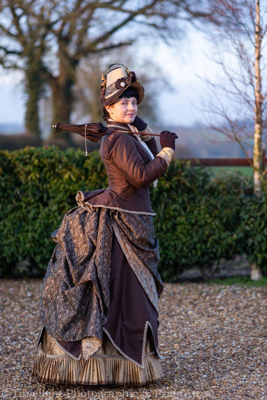 Victorian  archery/ walking dress in silk