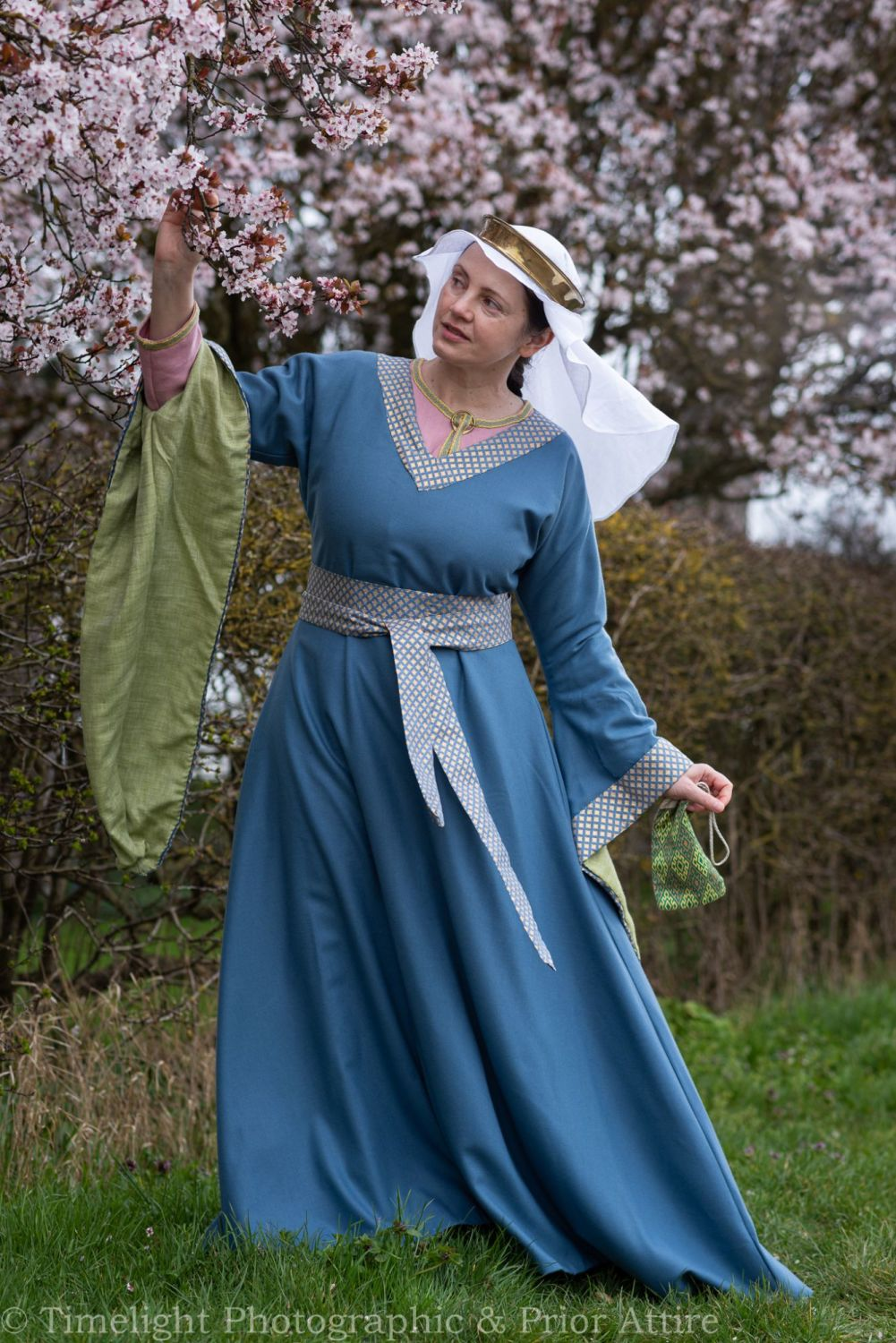 Medieval dress Bliaut 12-13th century, size S-M