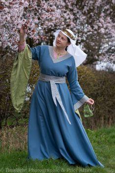 Medieval dress Bliaut 12-13th century, size S-M