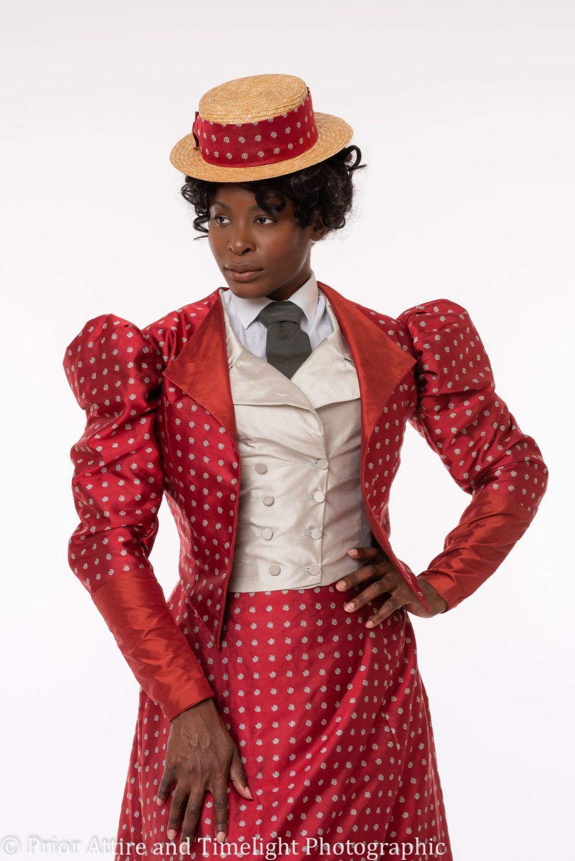 1890s Victorian  day  dress in silk