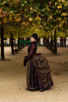Victorian  walking dress in silk