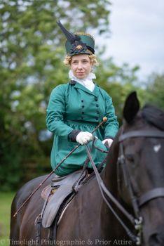 Regency riding habit and hat