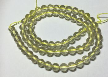 Rock Crystal Plain Rounds  Strand 6x6mm