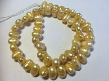 Yellow Pearls 15 inch strand