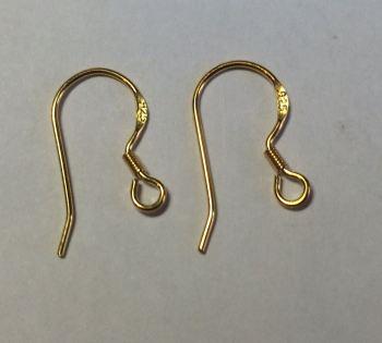 925 Silver / Gold Coated Large fish hooks