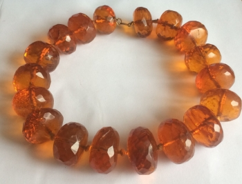 RARE   Large Natural English Amber Necklace  (amb17)