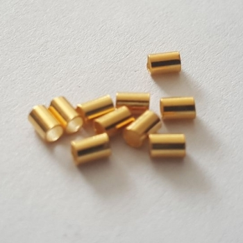 18k Gold plated on 925 silver crimps 2mm pack 10