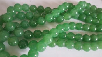 Dyed Green Quartz 12mm beads 14 inch stirng