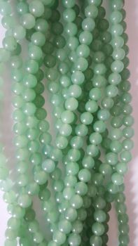 Dyed Green Quartz 8.5mm beads 14 inch stirng
