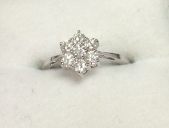 Diamond Cluster Ring 18ct White Gold