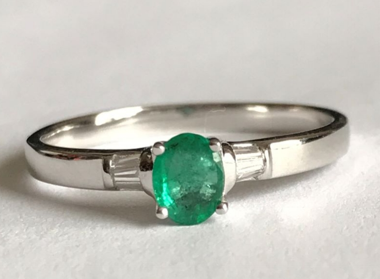 New Product Emerald and Diamond ring in 9ct gold