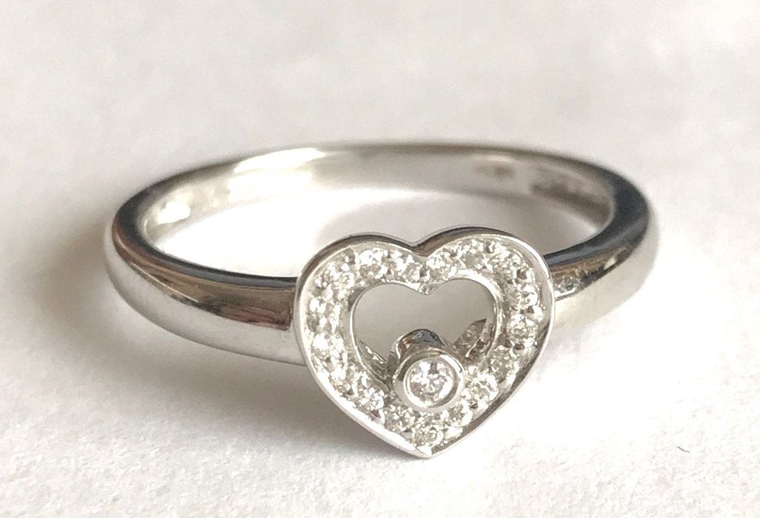 New Product Diamond Heart ring in White Gold