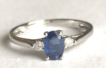 New Product  Sapphire and Diamond Ring in 9 ct gold   (04)