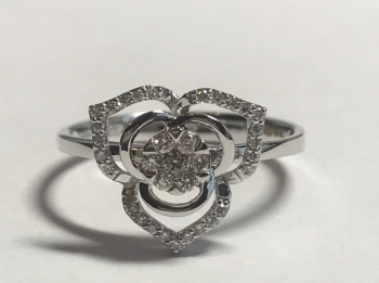 Diamond Abstract Ring in 9ct White Gold