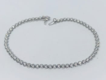 New Diamond Tennis Bracelet  18 ct white Gold