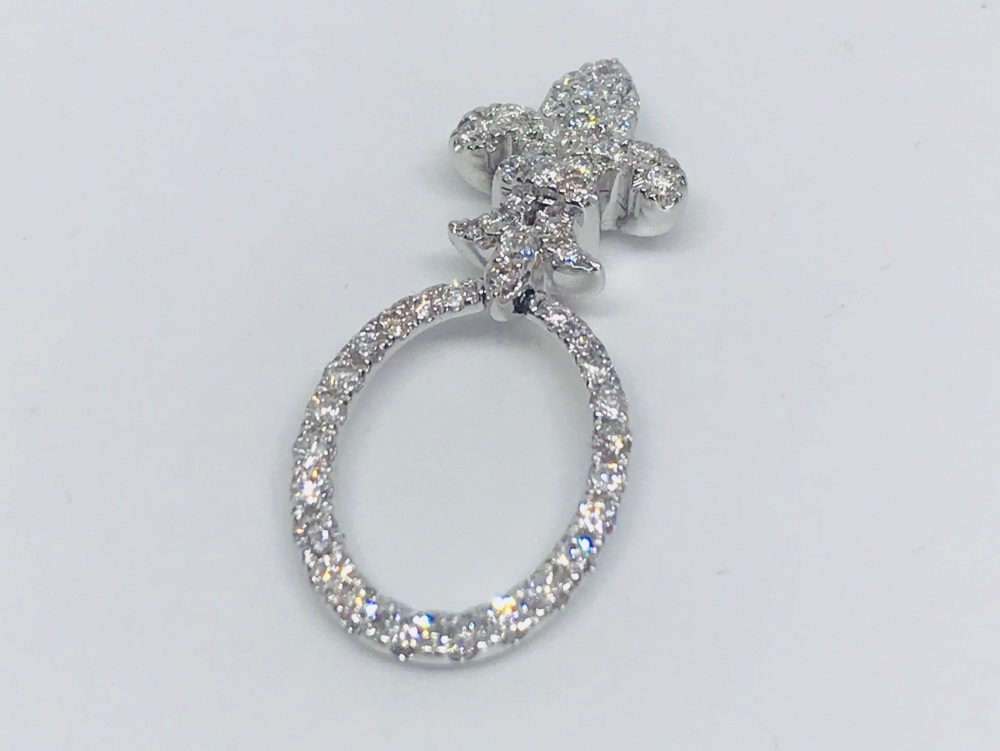 New Product  Diamond Pendant in 18ct White Gold