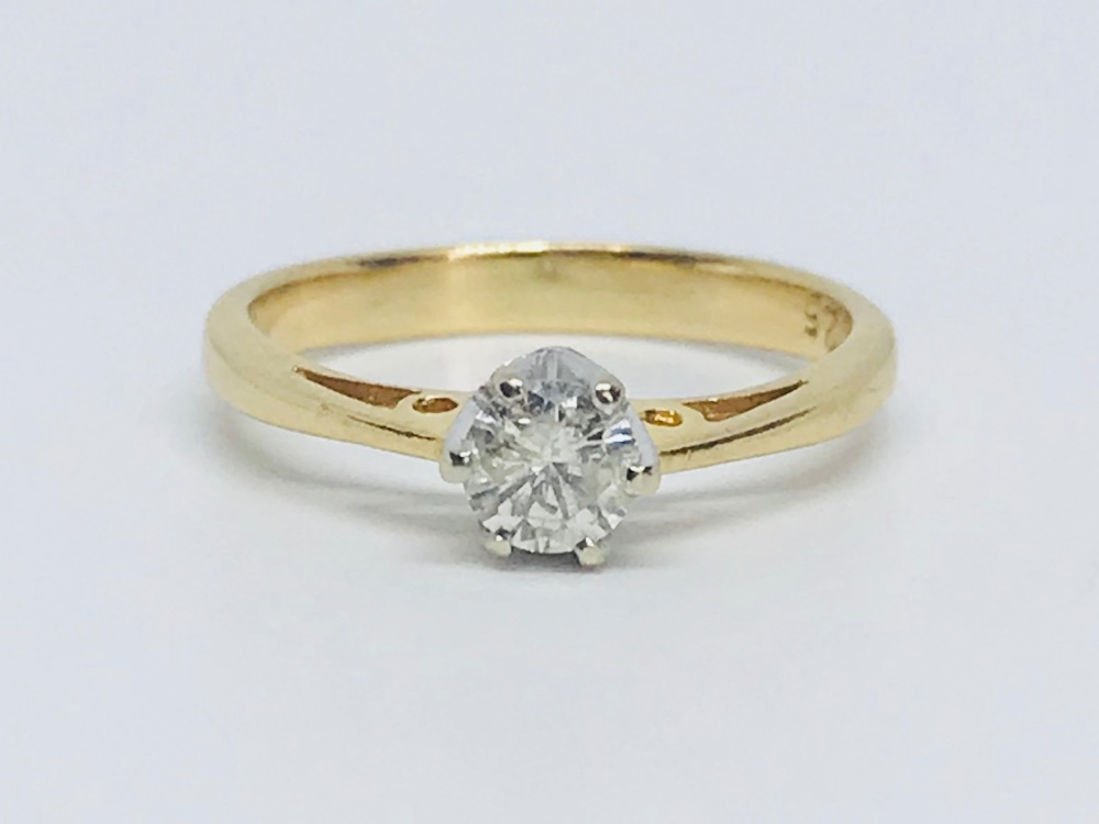 Diamond Soliatare in 18 ct Gold