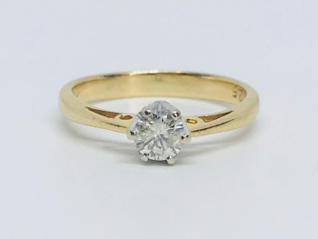 Diamond Soliatare in 18 ct Gold*