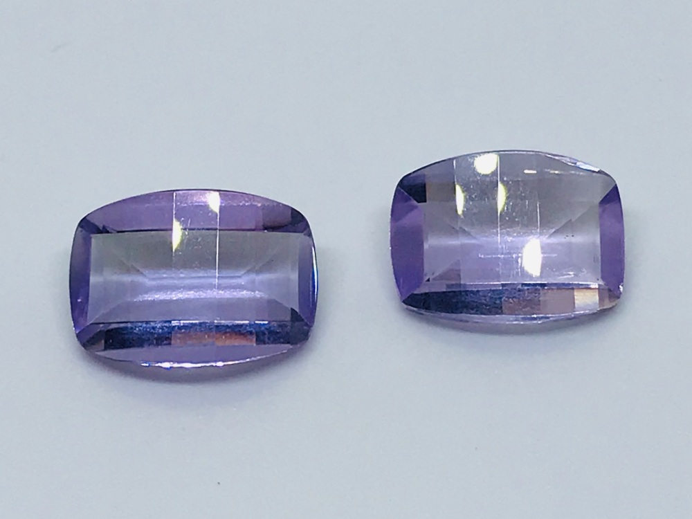 Amethyst Pair special cuts  13mm x 10mm 11.79 W00122