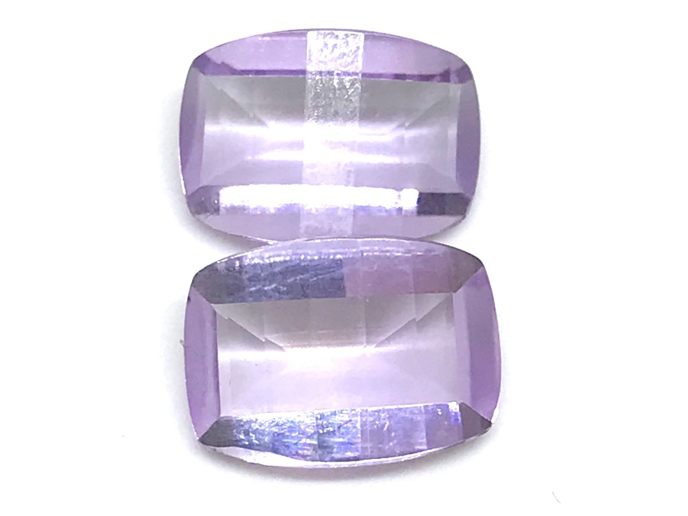 Amethyst Pair special cuts  13mm x 10mm 11.79cts         Amy0001