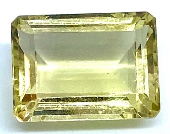 Citrine Emerald Cut 13.41cts   16mm x 12mm  Cit001
