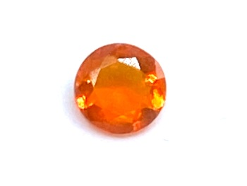 Fire Opal Round  0.22cts  4.8mm    Opa014