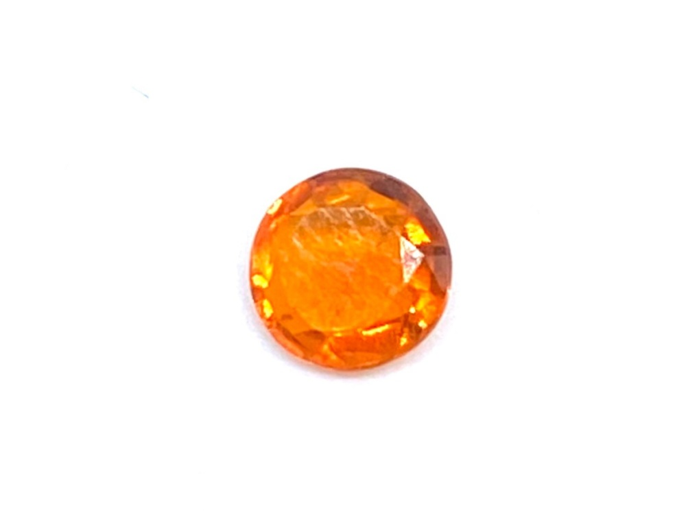 Fire Opal Round  0.23cts  4.8mm    Opa016