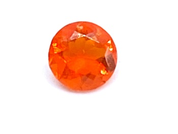 Fire Opal Round  0.26cts  4.9mm    Opa019