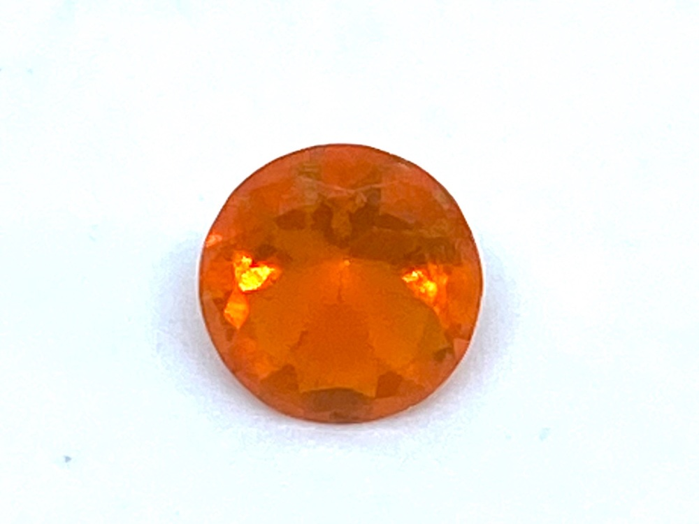 Fire Opal Round  0.26cts  5mm    Opa020
