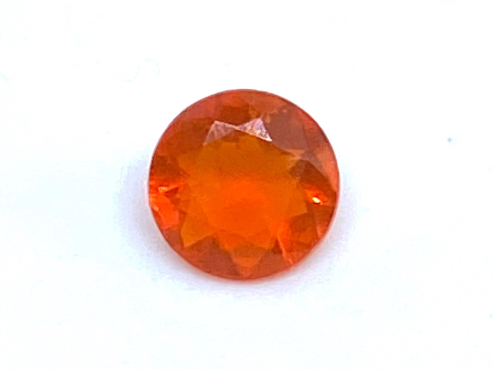 Fire Opal Round  0.27cts  5mm    Opa021