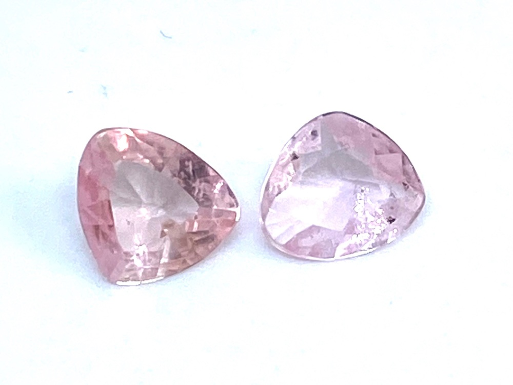 Tourmaline Pink Triangles 1.19cts     Tou15