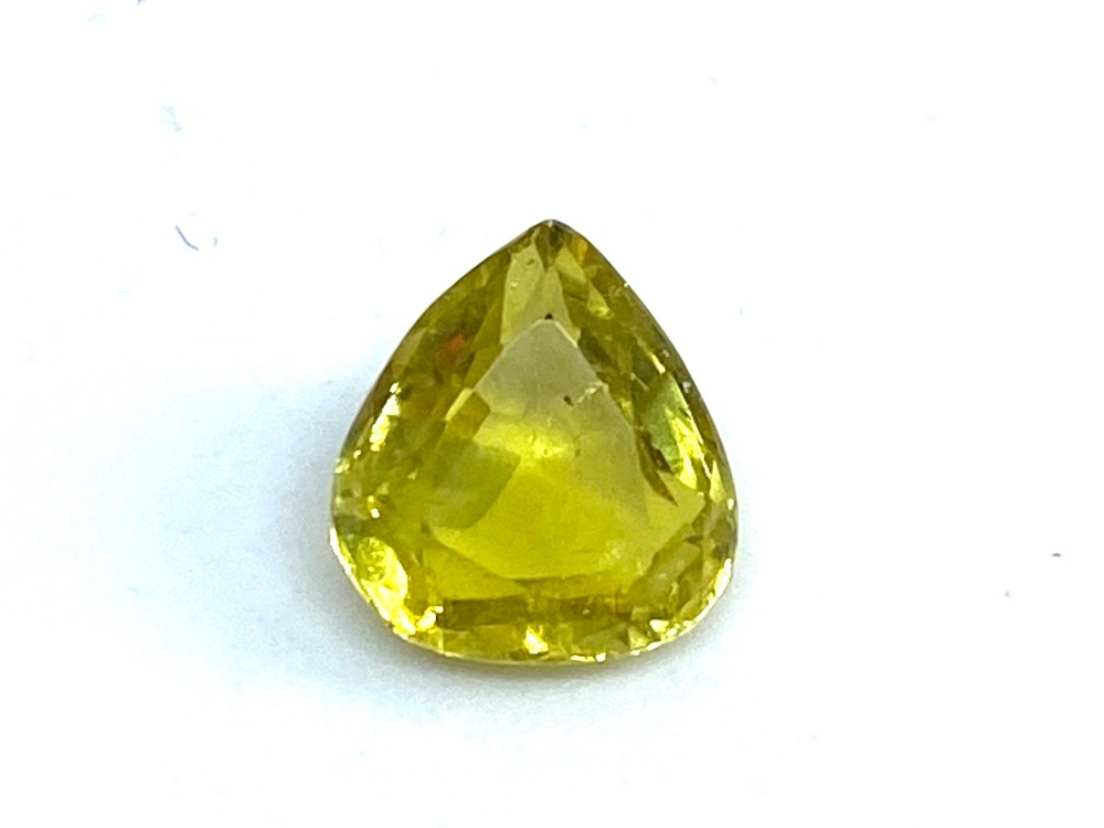 Tourmaline Yellow 1.06cts 7mm x 6.5mm Tou020