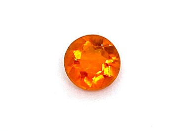 Fire Opal Round   0.26cts  4.7mm   Opa049