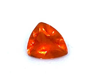 Fire Opal Trillion   0.19cts  4.6mm x 4.4mm   Opa050