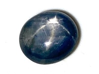 Blue/Grey Star Sapphire 6.61ct  10.4mm x 9.2mm Sap038