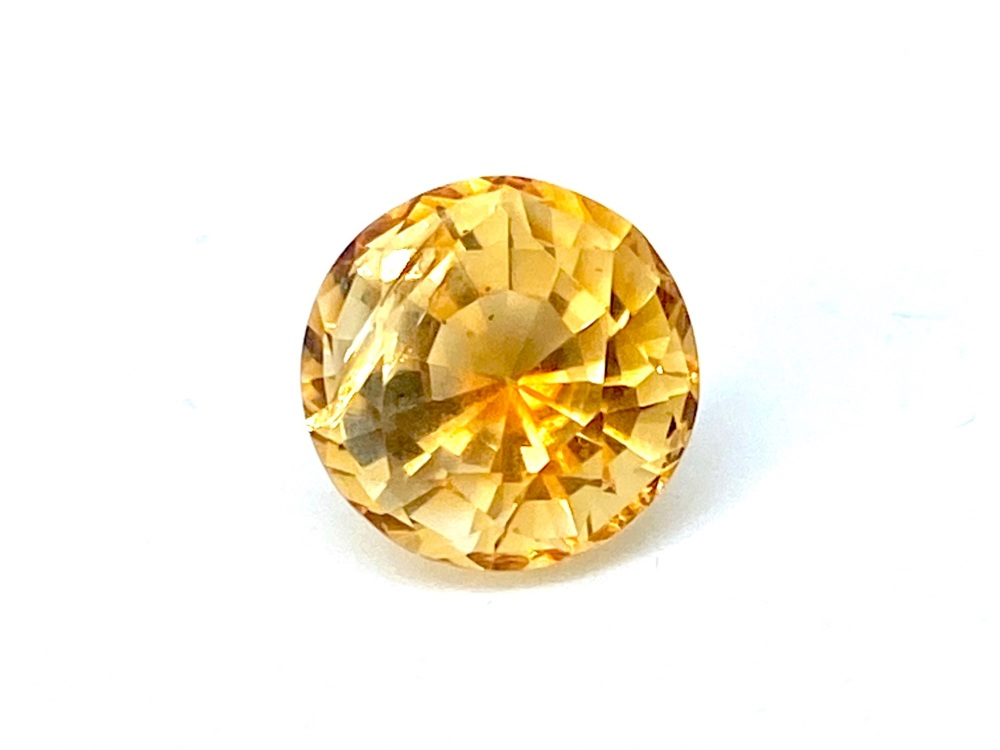 Citrine  10.6mm  Round 4.71cts    Cit011