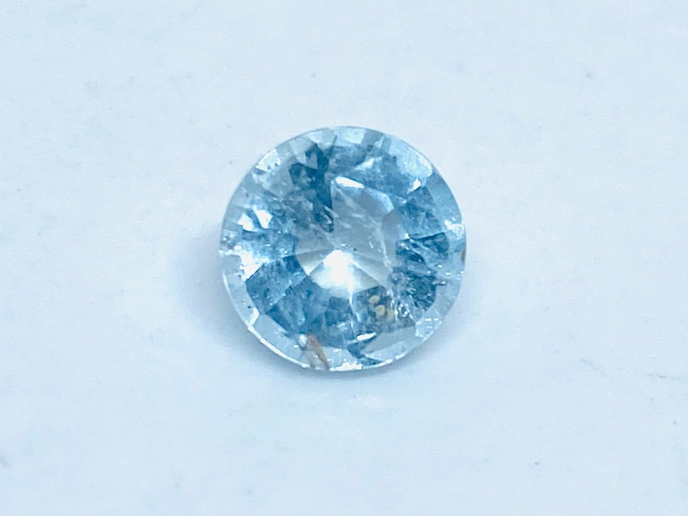 Aquamarine Round 7.5mm  1.43cts      Aqu038