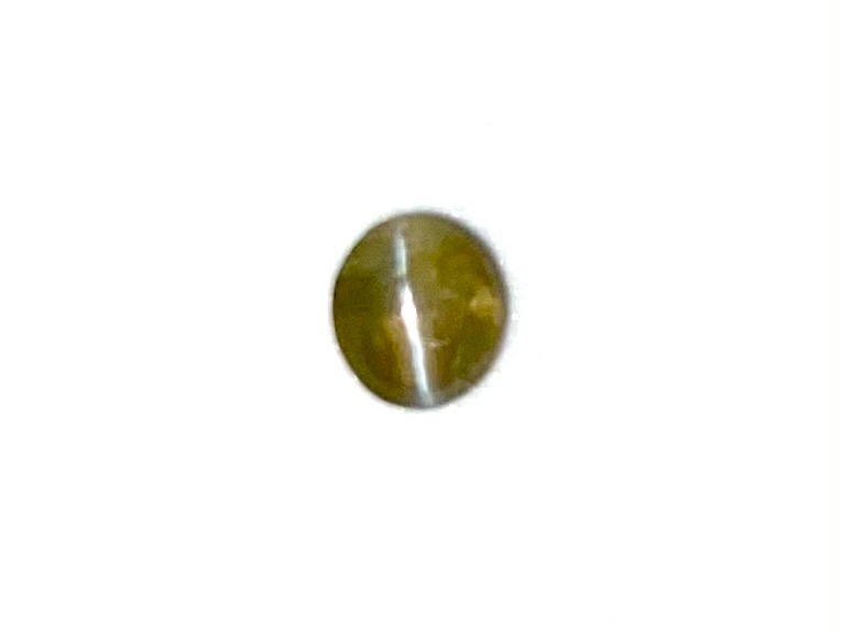 Chrysoberyl Cats Eye  Oval  4.5mm x 4mm    0.39cts    Chr006