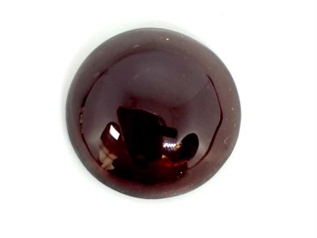 Garnet Deep Red  Carbuncle 12mm Round  5.20cts      Gar023