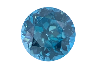 Blue Zircon Round 9.5mm   4.89cts   Zir003