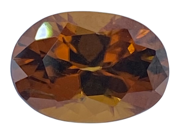 Brown/Orange  Zircon Oval 10.8mm x 7.7mm  3.83cts   Zir004
