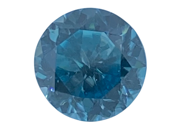 Blue Zircon Round 8.8mm   3.77cts   Zir006