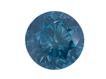 Blue Zircon Round 8mm   2.87cts   Zir007